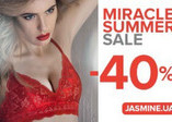 MIRACLE SUMMER SALE -40% from JASMINE!